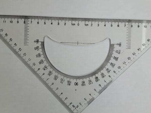 Una semplice squadretta-goniometro per la simmetria