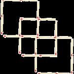 Quadrilateri con i fiammiferi, ovvero come aguzzare la mente;-)
