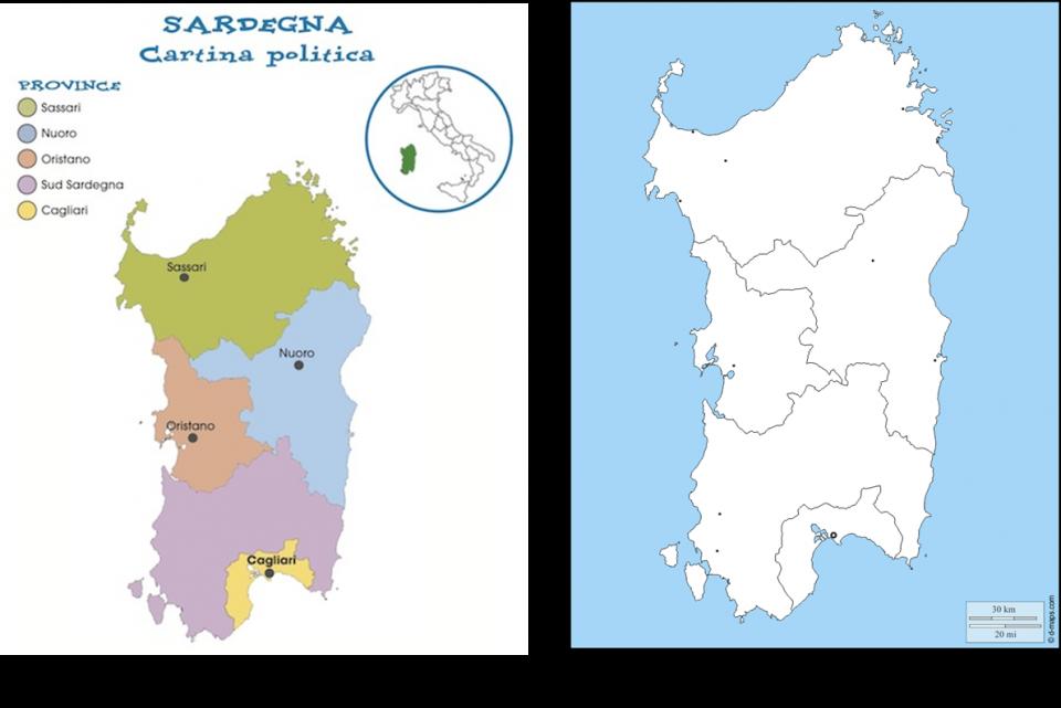 Cartina Politica Sardegna.Bella Sardegna Per La 4 Sd Il Nuovo Pintadera