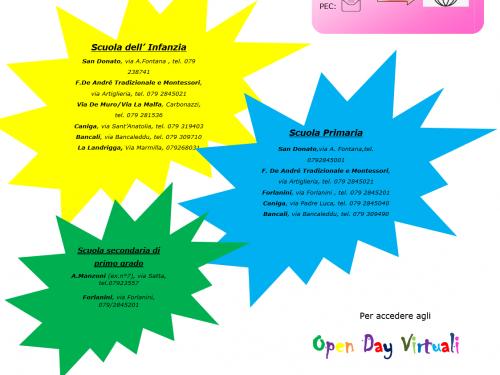 Iscrizioni Open Day 2020-2021